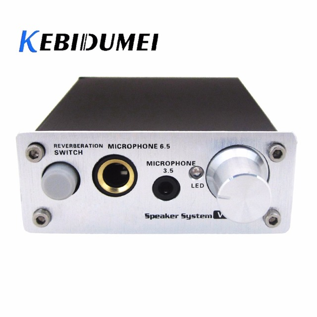 US $18 23 24% OFF kebidumei Microphone Sound Amplifier Ultra Compact 2  Channel Wired PC Microphone Sound Amplifier Audio Slot for Karaoke-in  Amplifier