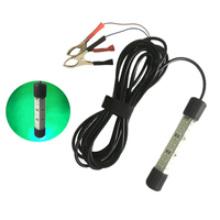 12V 30W 48pc SMD LED Green Underwater Submersible Night Fishing Light Fish Finder Lamp Attracts Prawns Squid Krill Lamp 5m Cable