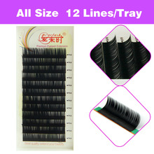 Free Shipping 3D Volume Eye Lashes Extension 12 Rows/Lot Hot Selling