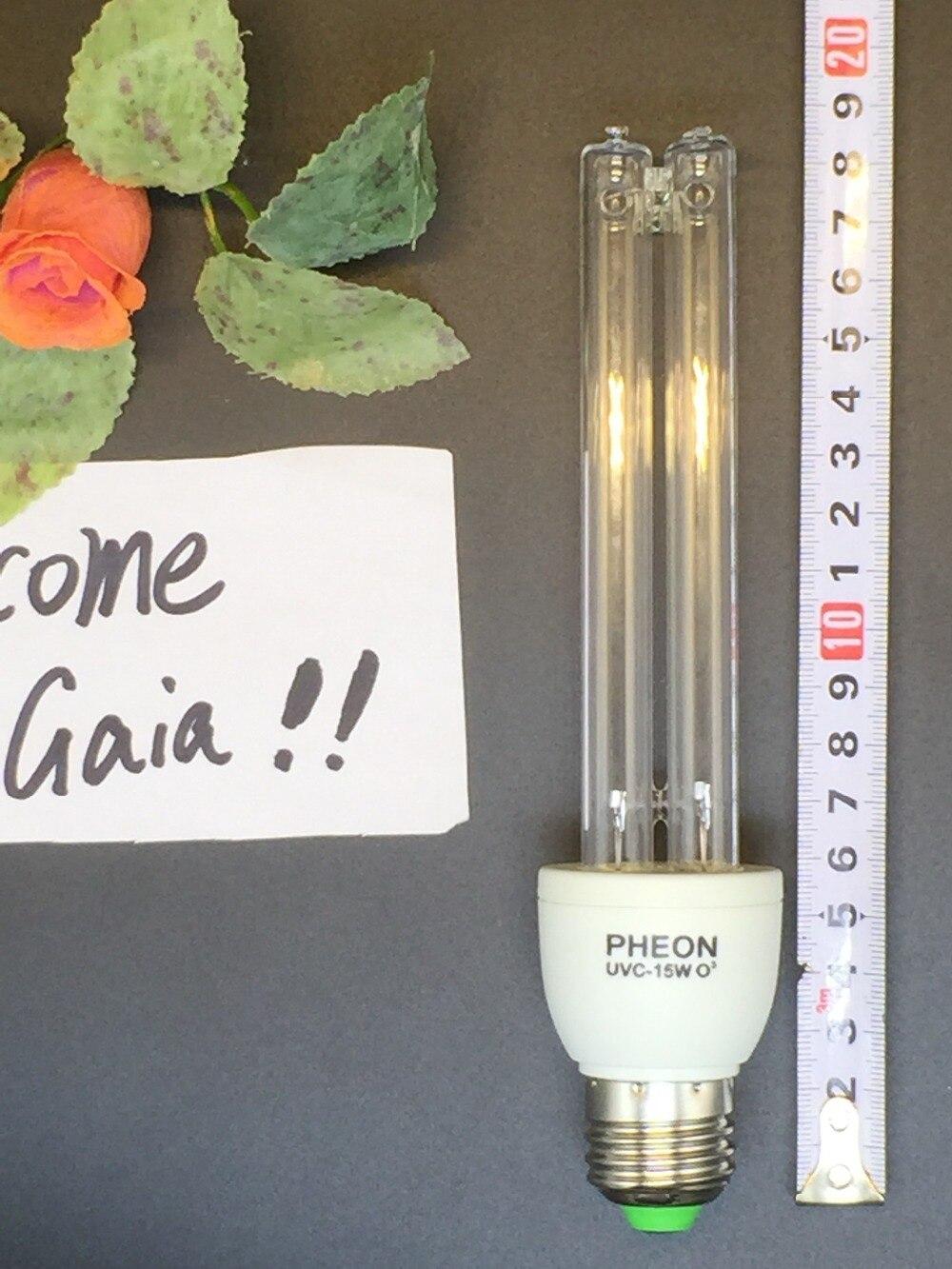 UVC + Ozone Germicidal Deodorant Compact Fluorescent Light 220V 15W E27 Screw Base, UV CFL Sterilization Light.