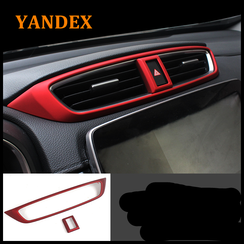 Yandex car interies air conditioning outlet cover Red colour ABS Chrome decoration Trim  ...