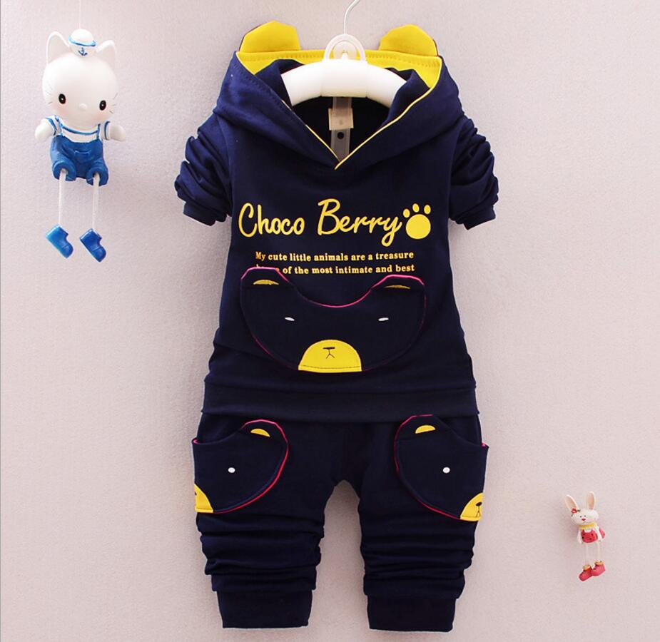 2017 Real Infantil cotton Children Suit Boys and girls Sweater Spring And Autumn Baby Clothing Brand Clothes Sets HB3052