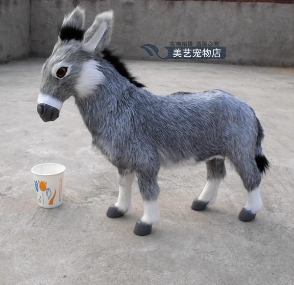 simulation cute donkey 45x12x42cm toy model polyethylene&furs donkey model home decoration props ,model gift d162 simulation cute squatting cat 35x28x26cm model polyethylene