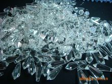 100pc 37MM Clear Chandelier Glass Crystal Lamp Prisms(Free ring) Parts Hang Pendants For Candelabra,Ceiling Lights,Wedding Decor(China)
