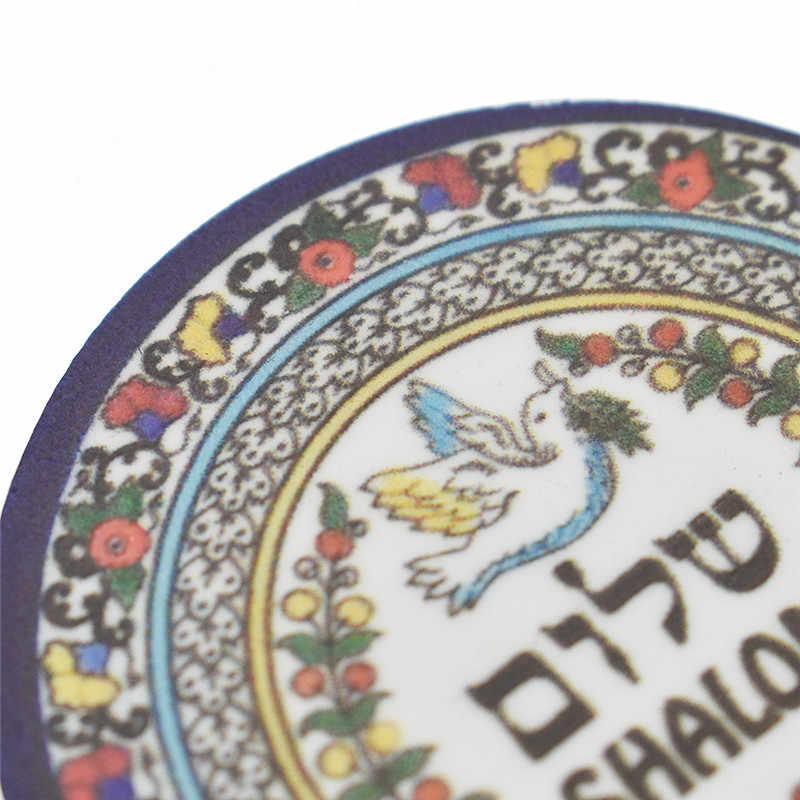 Jérusalem rond réfrigérateur aimants acrylique chameau réfrigérateur autocollant voyage Souvenir maison cuisine décoration