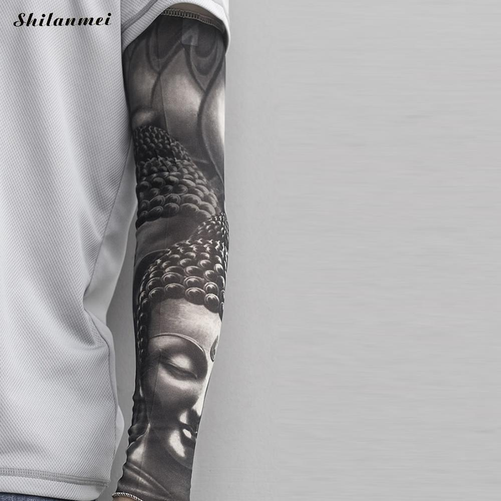Men's Accessories 1pc New Nylon Skull Tattoo Sleeve Men Women Fake Temporary Designs Body Arm Elastic Stockings Tatoo For Cool Men Drop Shipping Men's Arm Warmers