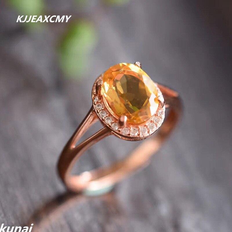 KJJEAXCMY Fine jewelry, colorful jewelry, 925 silver, natural yellow Peridot, female ringsKJJEAXCMY Fine jewelry, colorful jewelry, 925 silver, natural yellow Peridot, female rings