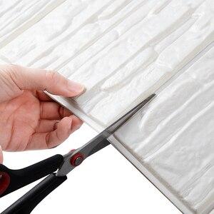 DIY 3D Ziegel PE Schaum Wand Aufkleber Panels Zimmer Aufkleber Stein Dekoration Geprägt Wohnzimmer Kinder Safty Schlafzimmer Wohnkultur