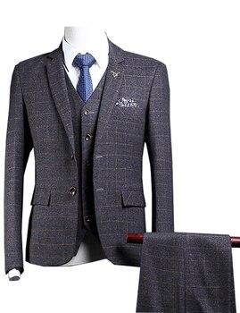 JinXuanYa Mens Fashion Brand Blazer British's Style casual Slim Fit suit jacket male coat plus suit size S-5XL custom suit.
