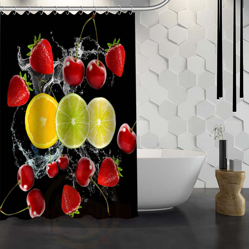Custom Pumpkin Autumn Fruit Shower Curtain Waterproof Fabric For Bathroom WJY117 In Curtains From Home Garden On Aliexpress