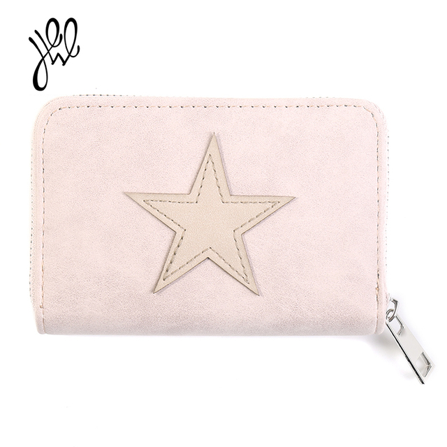 Lovely Small Women Wallets Leather Purses Brand Short Wallet Star Best Gift Girls Wallet Card Holder Mini Lady Coin Purse500609