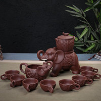 Purple Sand Semi automatic Tea Set Teacups Creative Anti scalding Tea Elephant Teapot Complete Set Of Kung Fu Tea Set
