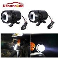2PCS 30w Cree U2 Led Motorcycle Moto Headlight 1200LM High Low Beam Motorbike Driving Spot Fog