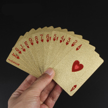One Deck Gold Foil Poker Euros Style Plastic Playing Cards Waterproof Good Price Gambling Board game