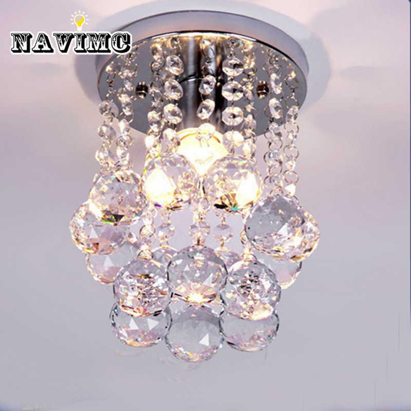 Современная мини капля дождя маленькая Хрустальная люстра освещение для спальни гостиной потолочный коридор лампы светильник для коридоров