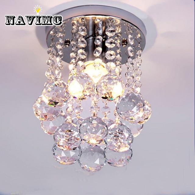 Modern Mini Rain Drop Small Crystal Chandelier Lighting For Bedroom Living Room Ceiling Lamp Corridor Hallway