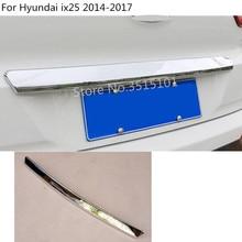 car cover Stainless steel back rear door bottom tailgate frame plate trim font b lamp b