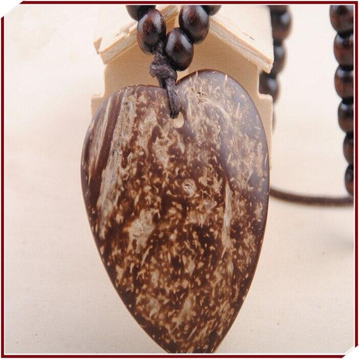 14d9309d4 Venda direta da fábrica retro camisola cadeia de moda de alta-grade de  madeira de pêssego pingente de coração