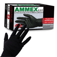 100pcs Disposable Sterile Black Nitrile Piercing Tattoo Gloves Powder Latex Free L M S Size Tattoo Machine Kit Set Supply