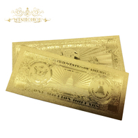10Pcs/Lot USA Gold Banknotes 1 Million Dollar Bill Banknotes in 24K Gold Paper Money For Collection And Business Gift