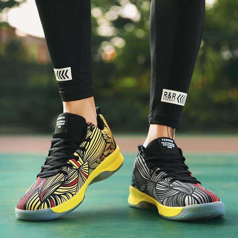 Turnschuhe 2019 Mode Jyrhenium 35-47 Plus Größe Atmungs Basketball Schuhe Männer Basketball Turnschuhe Zapatillas De Baloncesto Im Freien Männer Schuhe Student Verpackung Der Nominierten Marke