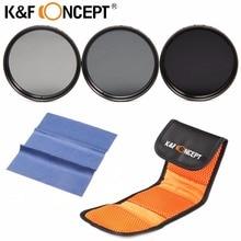 K & F концепция 37 мм ND2 ND4 ND8 фильтр нейтральной плотности ND объектив Комплект для Canon/для Sony /для Olympus для всех 37 мм DSLR Камера объектива