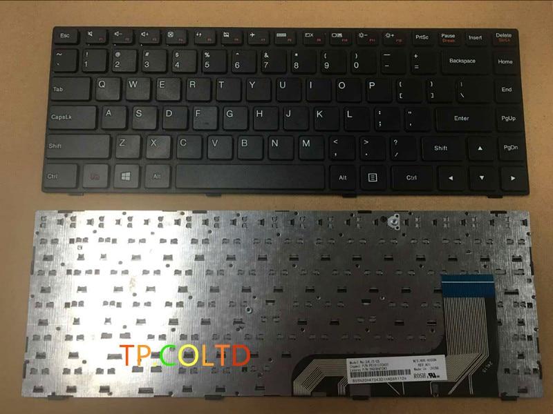 Novo lenovo ideapad 100 14 100-14iby win8 teclado eua preto moldura preta