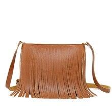 Tote bags fashion handbag tassel bag pu leather trend shoulder diagonal ladies