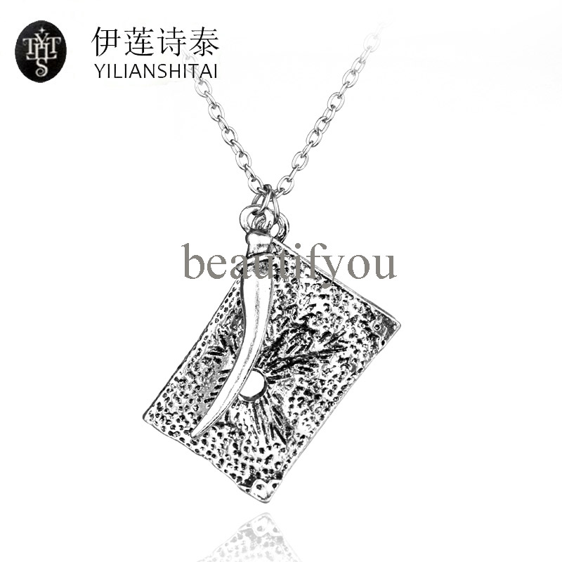 Tom Riddle Diary Necklaces Pendants Square Fashion Mens