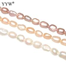 5-6mm Pink Purple White Cultured Rice Freshwater Pearl Beads natural Pearl Jewelry Finding Beads DIY making Beads Accessories 10pcs 100% natural pearl full hole cultured freshwater white rice pearl beads 7 8 mm