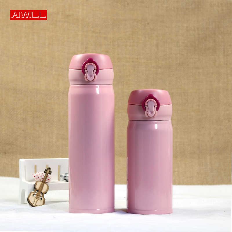 Aiwill高品質ファッション素敵な魔法瓶コーヒーカップ水ボトル用女の子ステンレス鋼thermocup真空熱マグのギフト