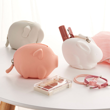 30PCS / LOT Coin Purse Portable Mini Wallets Girl Cute Animal Zipper Small Pocket Wallet Creative Earphone Bag Key Bags
