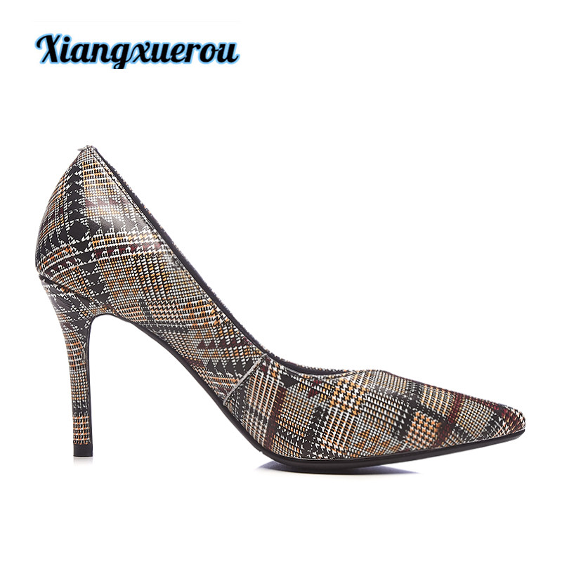 Xiangxuerou In spring of 2018, the new pointed trellis pattern is really high and the women's shoes are fine. komol singha structure and performance of agricultural schemes in india