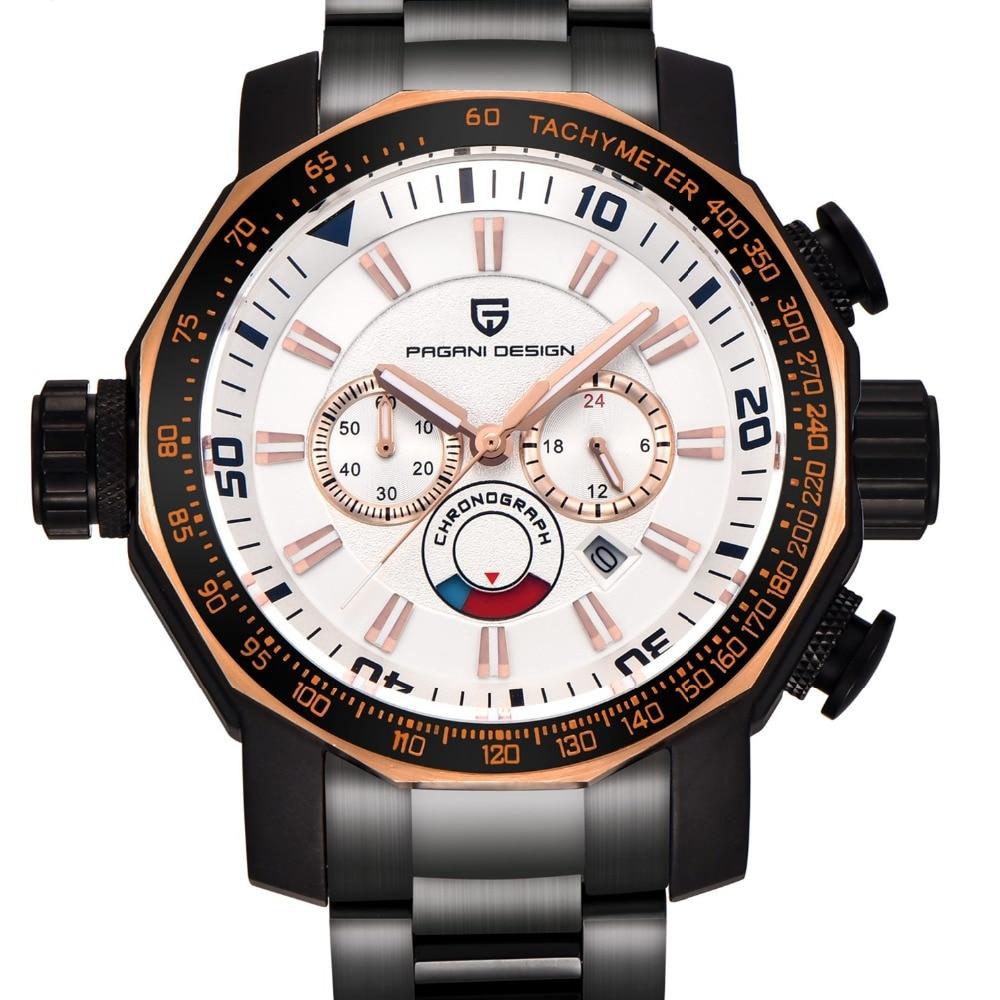 Часы мужские роскошные брендовые PAGANI дизайнерские спортивные часы для дайвинга военные часы с большим циферблатом многофункциональные кварцевые наручные часы reloj hombre - 6