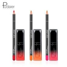 Pudaier Brand 12 Colors Matte Liquid Lipstick Lipgloss Pink Orange Lip Contour Lipliner Wood Nude gloss stick Makeup Set