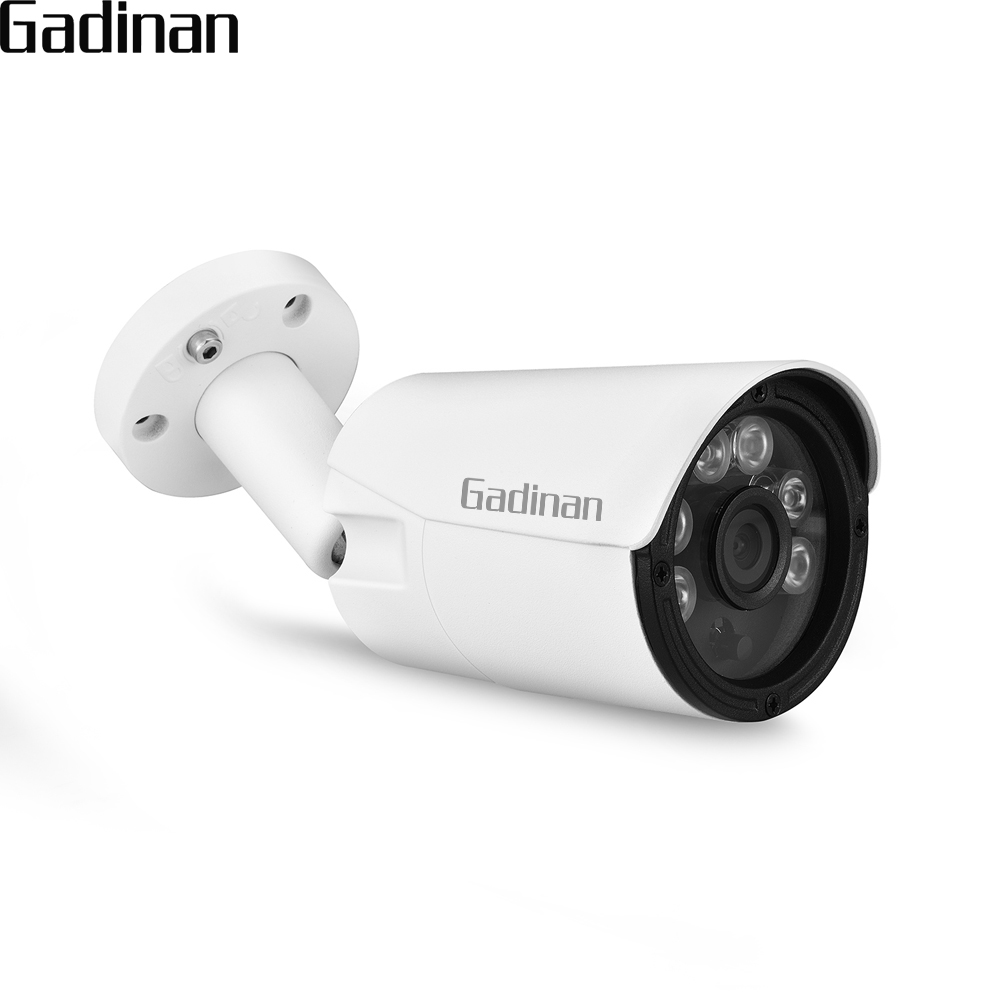 GADINAN Security POE IP Camera Metal Network Video Surveillance H.265 1080P Night Vision CCTV Waterproof outdoor 2MP Bullet Cam wistino cctv camera metal housing outdoor use waterproof bullet casing for ip camera hot sale white color cover case