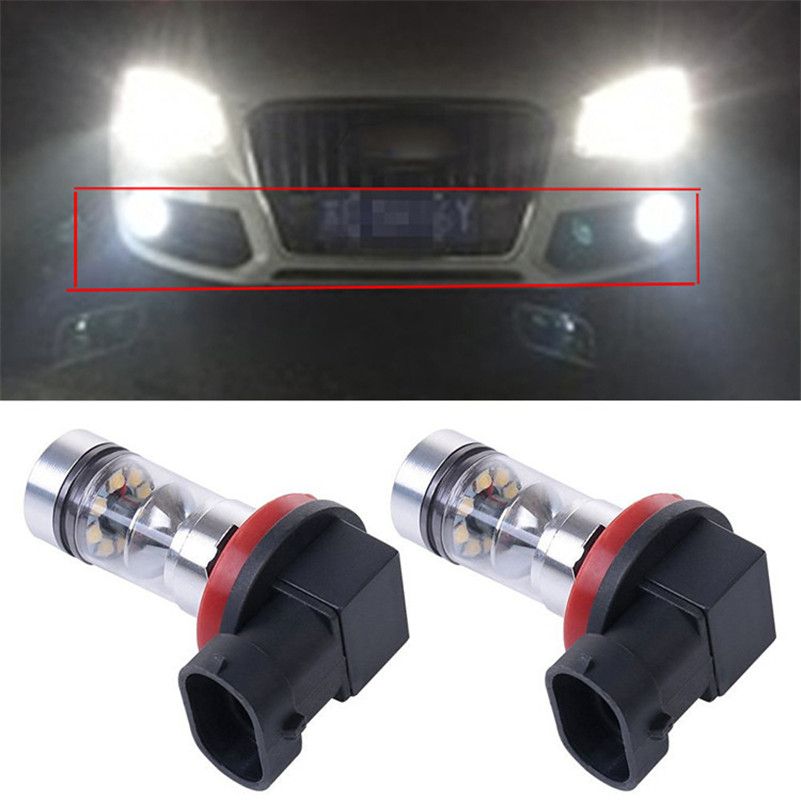 For <font><b>Audi</b></font> A3 A4 A5 <font><b>A6</b></font> Q3 Q5 Q7 S4 S5 S6 2015 H8 H11 H9 100W 1000LM Car LED Fog Lamp Driving Light Bulbs Daytime Running Light DRL image