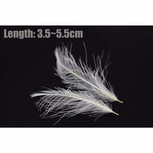 Tigofly 0.5 g/pack Natural White Cul-De-Canard CDC Duck Butt Feathers Waterproof Dry Fly Tying Materials Fly Fishing