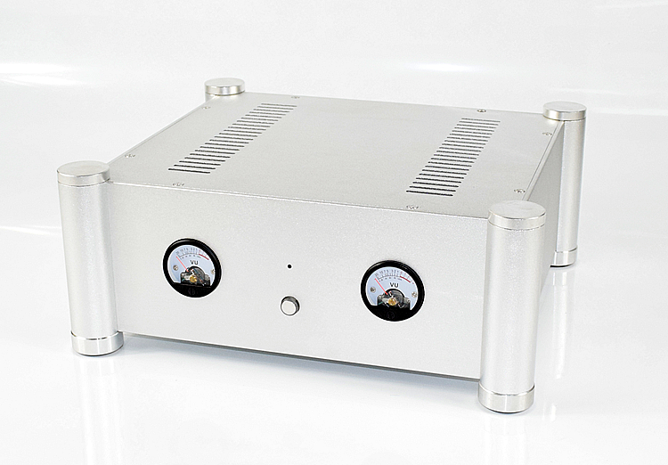 CJ-WA126 Full Aluminum VU Header Enclosure Amplifier Case Preamp Box DIY Audio Chassis 355*145*315MM wa60 full aluminum amplifier enclosure mini amp case preamp box dac chassis