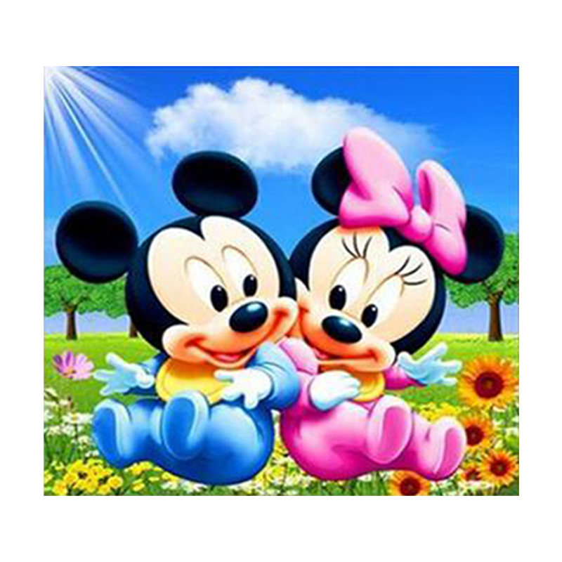DIY 5d diamond painting Mikey Minne mouse couple love living room bedroom children room