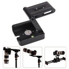 Profesyonel kamera kablosu Tripod Z Pan & Tilt alüminyum katlanır Z Tripod braketi kafası çözüm fotoğraf stüdyosu