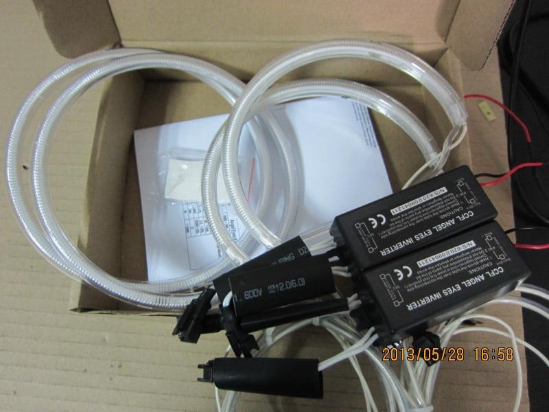 Super Bright 5W CCFL Angel Eyes Kit 6000K Halo Rings Headlight For ...