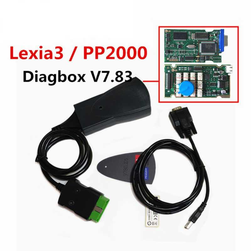 Dernière Version lexia3 PP2000 avec Diagbox V7.83 PSA XS Evolution pour ci-troen/pour pe-ugeot LEXIA-3 FW 921815C Lexia 3