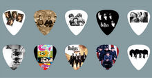 Lots of 20Pcs The beatles 2 sides printing Guitar Picks  Plectrum Medium Size 0.71mm
