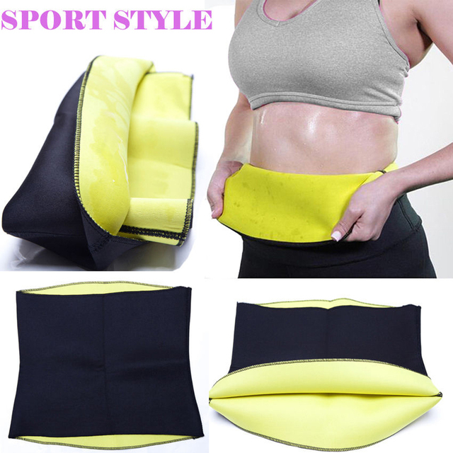 Fashion Neoprene Sauna Sweat Belt Fitness Stretch Waist Trainer Body Shaper Tummy Cincher Corset Slim Belly Binder Trans 2