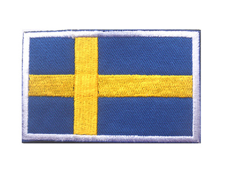 5pcs lot 3D Embroidery Sweden Flag Patch Backpack Bag Jacket Armband Badge Special Patch for Clothes Hook and Loop Sticker in Patches from Home Garden