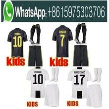2b1a1527d Baru 2019 Cristiano Ronaldo Juventus Anak Kit Sepakbola Jersey Anak 18 19  Juve 2018 Dybala Higuain