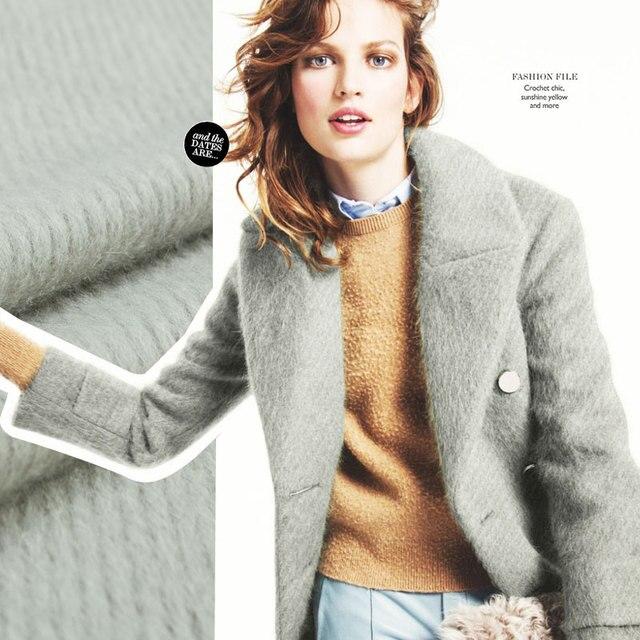 Reiner wolle glatte kurze stoff, Twill muster, Elegante grau, Nähen ...