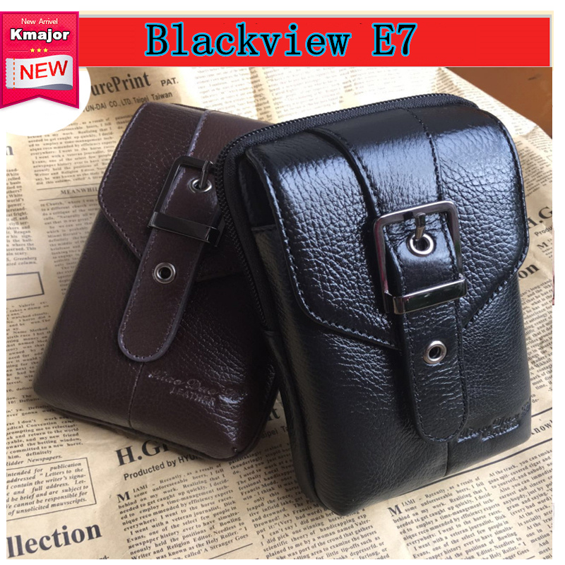 Aliexpress HOT ! Genuine Leather Case for Blackview E7 5.5&#8243; <font><b>Phone</b></font> Leather Case <font><b>Phone</b></font> Bag Hook Loop <font><b>Belt</b></font> Pouch <font><b>Holster</b></font> Cover