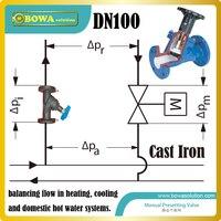 DN100 flanged Gietijzeren Balanceren Valve voornamelijk voor air bron 3-in-1 warmtepomp airconditioner systeem  check ons over verzending